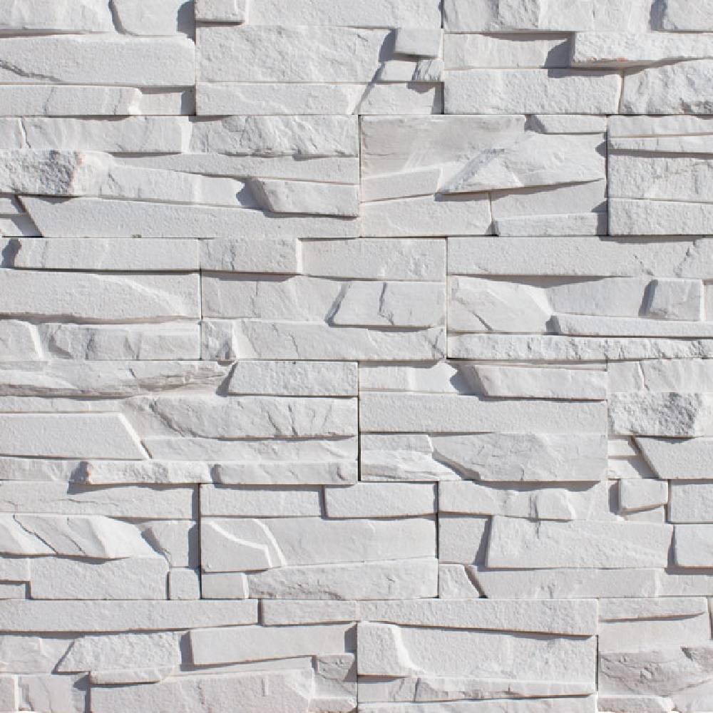 Декоративный камень белый фото